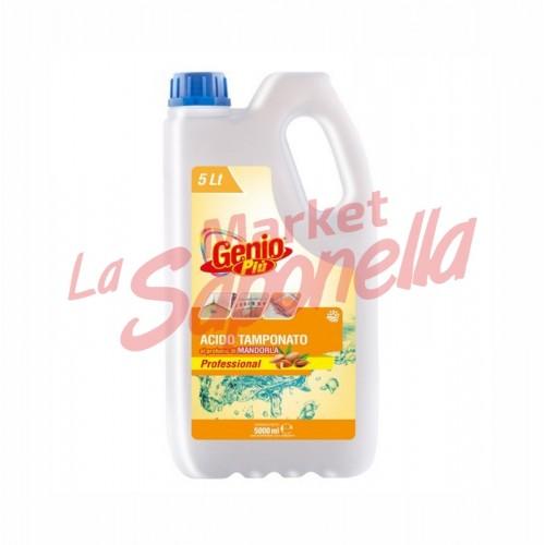 Genio piu acid tamponat cu parfum de migdale-5000ml